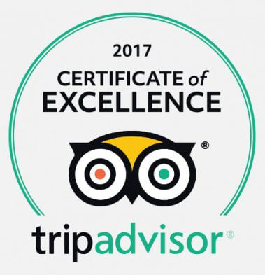 Lynton & Lynmouth are delighted to be awarded a TripAdvisor certificate of excellence.