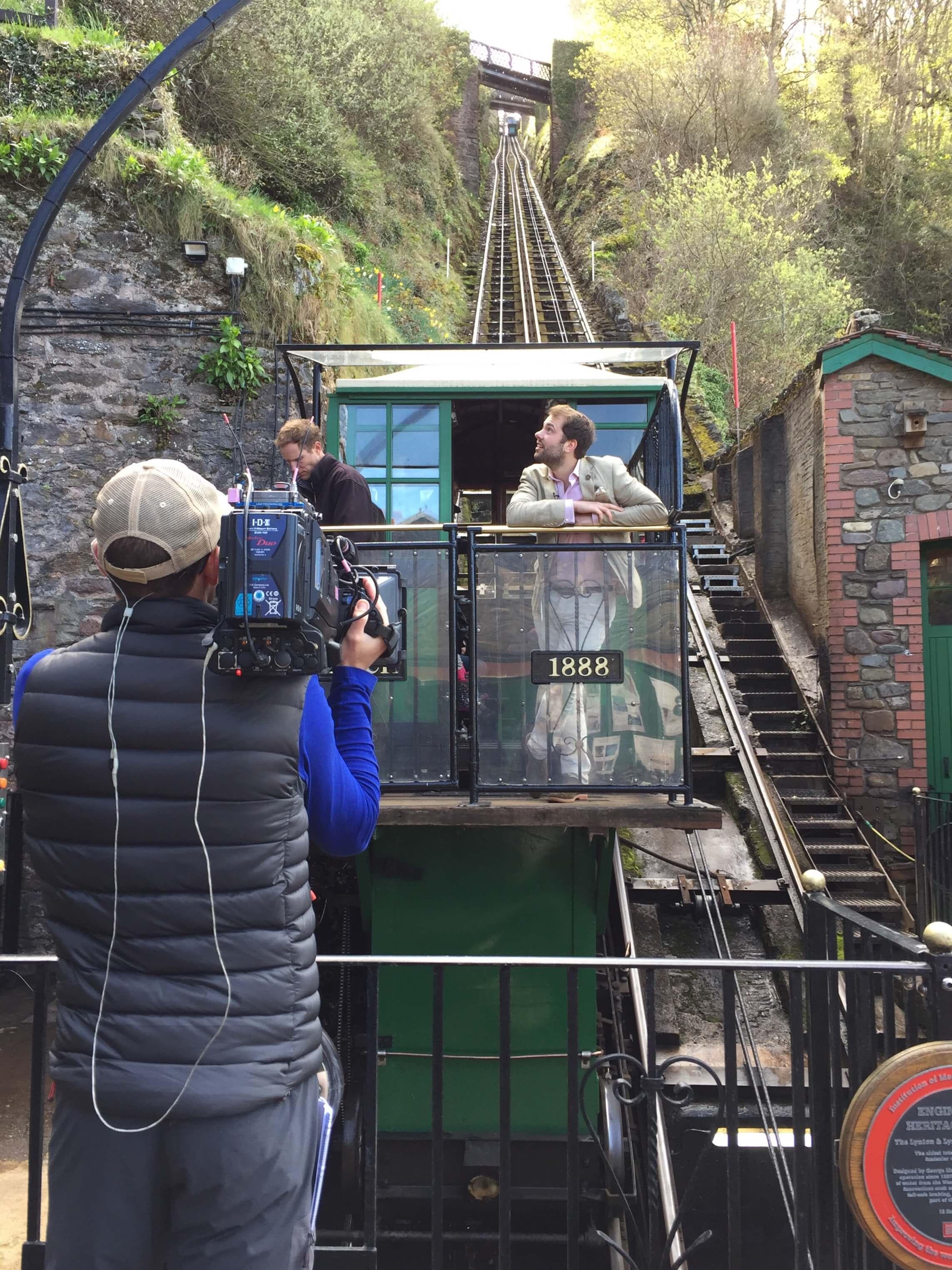 Filming Lynton & Lynmouth Cliff Railway